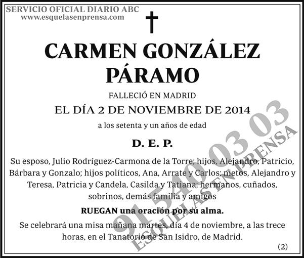 Carmen González Páramo